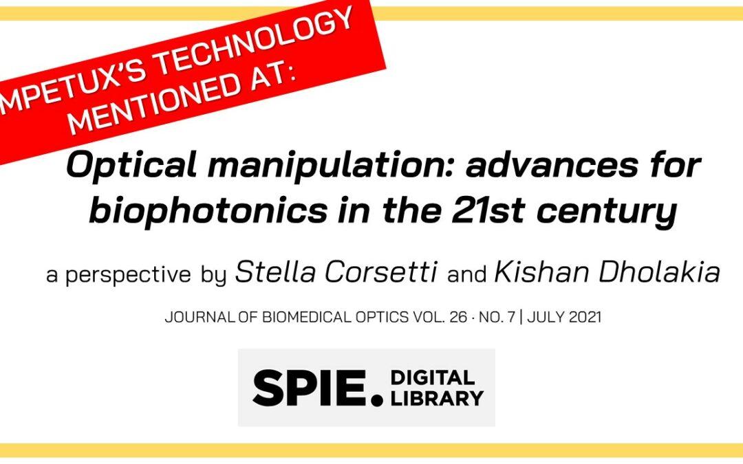 Key advances in optical manipulation for biophotonics